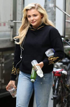 Chloe Grace has many bottles
