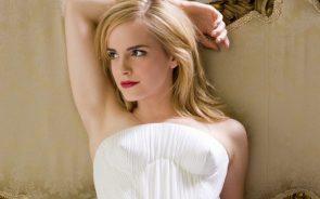 Emma showing off her super smooth armpit