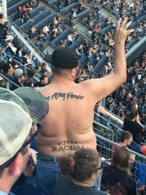 End Racism Tramp Stamp tattoo