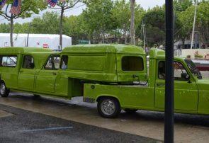 Green Truck Trailer Truck