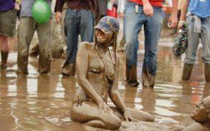 Muddy Bikini Woman
