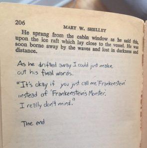 Shelleys last words