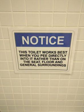 Toilet Notice