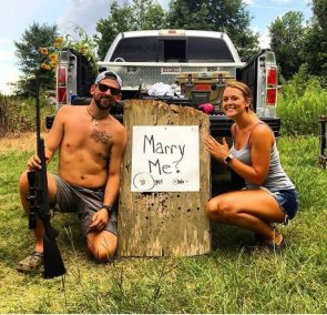Trashy Wedding proposal