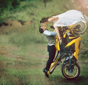 Wedding Bike Stunt