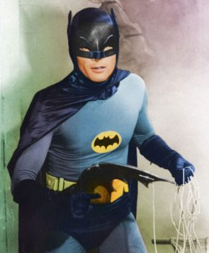 adam west with a batarang