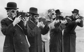 gas masking photographers