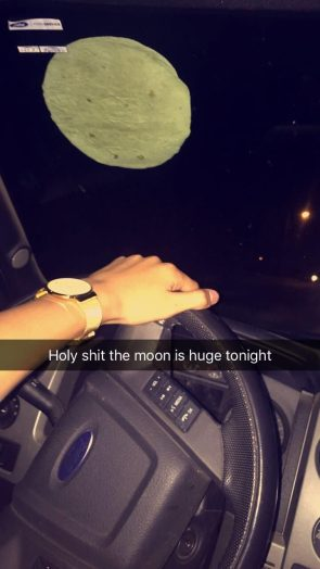 holy fucking shit ball fuck,the fucking moon is a fuck ton huger tonight than I give a shit about