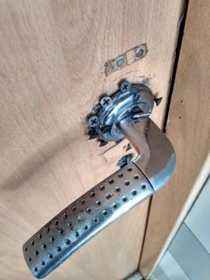 homemade door handle