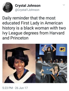 most educcated First Lady in American History