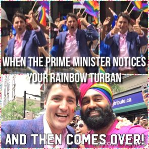 when the prime minister notices your rainbow turban