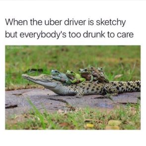 when the uber is sketchy