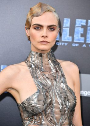 Cara with well plastered hair
