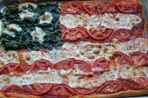American Flag Pizza