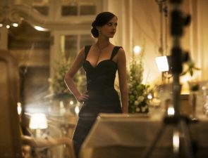 Eva Green on the set of Casino Royale