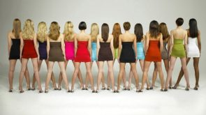 Fifteen women from behind