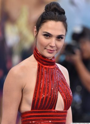 Gal Gadot in red strappy thing