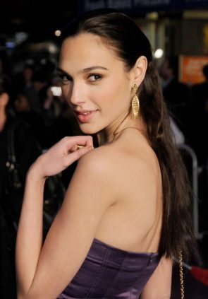 Gal Gadot over her shoulder