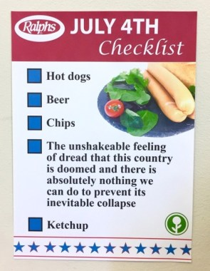 July Fourth Checklist