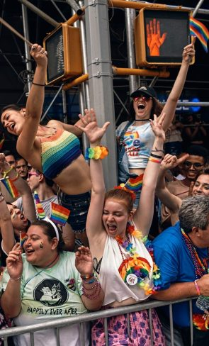 MANHATTAN — People Celebrate Pride Month