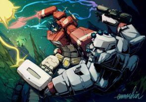 Megatron getting Mega Punched