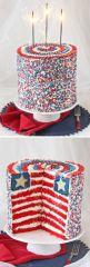 Real American Flag Cake