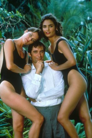 Timothy Dalton with Carey Lowell and Talisa Soto