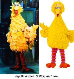 Big Bird then and now