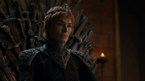 cercei lannister on the iron thrown