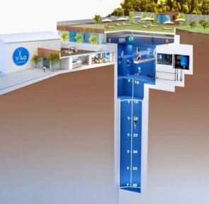 The world's deepest swimming pool Y40
