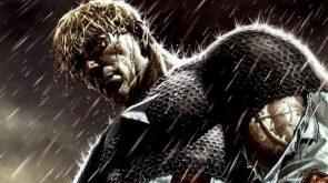 Captain America in the Rain