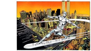 Silver Surfer in a pre 9-11 NYC
