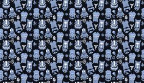 Blue Tiki Wallpaper