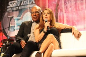Michael Dorn and Marina Sirtis give money advice to the Discovery cast