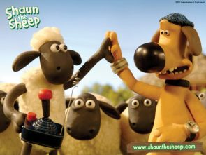 shaun the sheep with a dog of unknown origins
