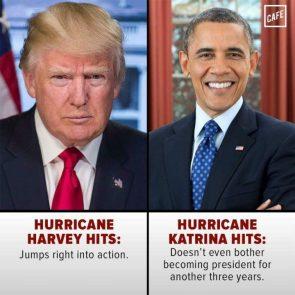 Trump vs Obama During Hurricanes