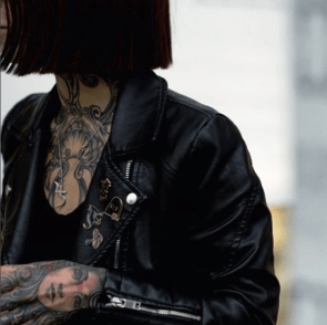 Leather Jacket and Tattoos