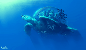 Underwater City Turtle