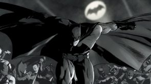 Batman in black and white