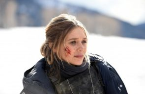 Elizabeth Olsen got a boo boo in Wind River
