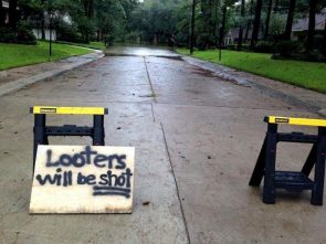 Looters will be shot in houston