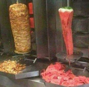 Meat and Watermellon