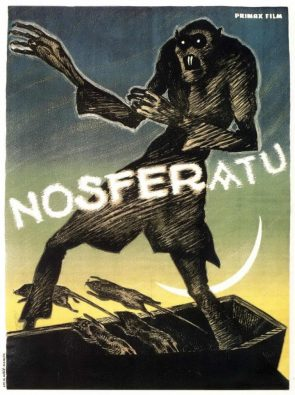 Nosferatu 1922 poster art by German artist Albin Grau 18841971