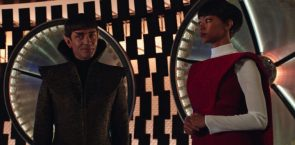 Sarek delivers Michael to the USS Shenzhou