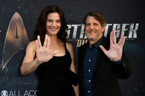 "Terry Farrell and Adam Nimoy at the 'Star Trek Discovery"" Premiere"