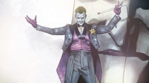 The Joker in a Purple Tux