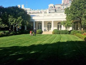 Donald Trump forces 11 year old to maintain White House lawn