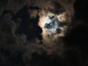 Eclipse photo looks like a one eyed raccoon