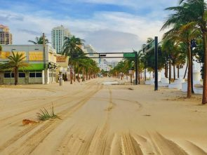 Fort Lauderdale Beach after Hurricane Irma