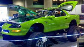 Green Sports Car for Mudding